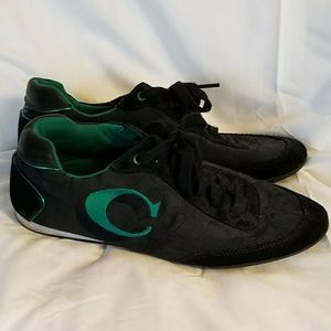 Black & Green Coach Perrie Tennis Shoes Sneakers